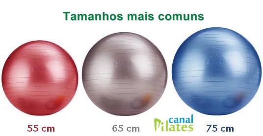 tamanhos bola pilates